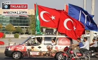 Maraş'tan Urfa'ya desteğe geldiler