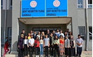 Siverek'te şehit öğretmenin öğrencilerine ziyaret