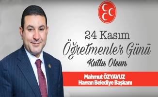 Başkan Mahmut Özyavuz'dan Öğretmenler Günü Mesajı