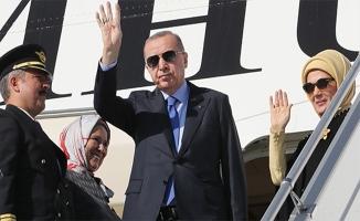 Cumhurbaşkanı Erdoğan Türkiye'ye hareket etti