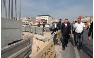 Karakoyun'da Köprülü Kavşak çalışması sürüyor