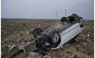Siverek'te iki otomobil çarpıştı: 1 yaralı