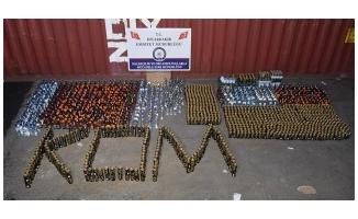 Diyarbakır'da binlerce şişe sahte içki yakalandı