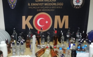 İzmir'de 1251 litre sahte içki ele geçirildi