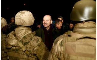 Bakan Soylu, yeni yıla jandarmalarla birlikte girdi