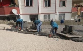 Eyyübiye'de yol yapım çalışmaları aralıksız sürüyor
