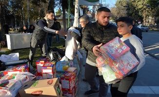 Siverek'te depremzedeler için yardım kampanyası