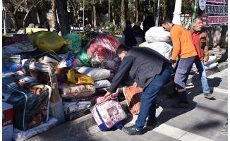 Siverek'te toplanan yardımlar Elazığ'a ulaştırıldı