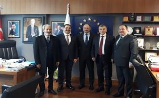 Beyazgül ve Başkanlar Gülpınar ile görüştü