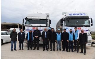 Şanlıurfa'dan İdlib'e 2 tır insani yardım malzemesi gönderildi