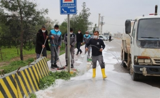 Harran mahalle mahalle dezenfekte ediliyor