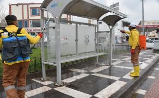 Siverek'te ortak kullanım alanları dezenfekte edildi
