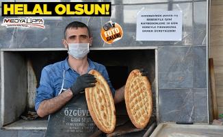 Siverekli fırıncıdan ihtiyaç sahiplerine ücretsiz ekmek