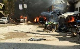 Afrin'de bomba yüklü tankerle terör saldırısı