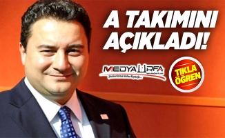 Ali Babacan, A takımını açıkladı!