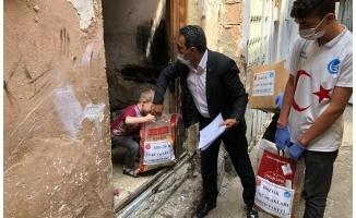 Birecik'te 500 aileye gıda yardımı