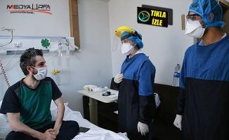 Koronavirüslü hastaların odaları görüntülendi