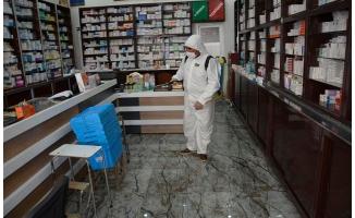 Siverek'te iş yerleri dezenfekte ediliyor