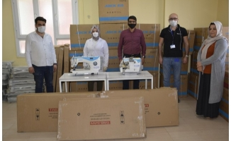 Viranşehir Kadın Merkezi'ne dikiş makinesi desteği