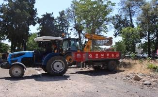 Kentsel dönüşüm için ağaçlar naklediliyor