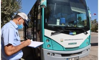 Büyükşehir toplu taşıma araçlarını denetledi