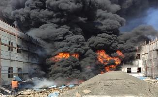 Şanlıurfa'da inşatta çıkan yangın söndürüldü