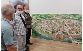Tarihi Kent, Urfalı Ressamın Fırçasıyla Yeniden Canlandı