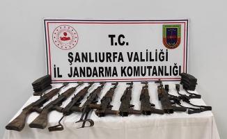 Akçakale'de 8 uzun namlulu silah ele geçirildi