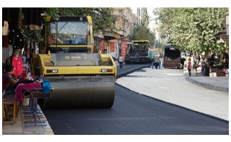 Bostancılar caddesi asfaltla buluştu