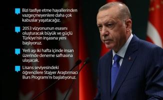 Erdoğan: Onlara daha çok kabuslar yaşatacağız