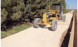Eyyübiye'de yol yapımı aralıksız sürüyor