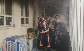 Şanlıurfa'da ev yangını maddi hasara neden oldu