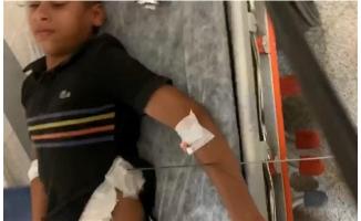 Şanlıurfa'da karnına şiş batan çocuğu itfaiye ekipleri kurtardı
