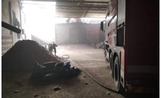 Şanlıurfa tekstil fabrikasında yangın