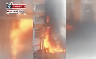 Siverek'te iş yeri yangını maddi hasara neden oldu