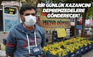Siverekli pazarcı İzmirli depremzedeler için bakın ne yaptı!