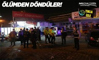 Ticari araç marketin önünde oturanlara çarptı: 8 yaralı