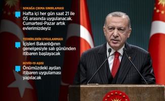 Erdoğan'ın kısıtlamalarla ilgili tüm açıklamaları