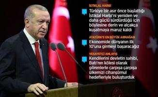 Erdoğan: Tarihi mücadele veriyoruz