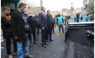 Eyyübiye'de asfalt serimi sürüyor