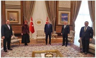 Gülpınar ve Yıldız ve Çakmak Cumhurbaşkanı Erdoğan ile görüştü
