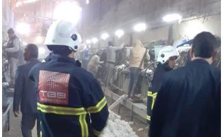 Harran'da çırçır fabrikası yangını