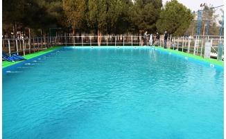 Akçakale'de portatif yüzme havuzu kullanıma hazır