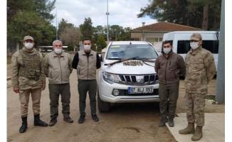Ceylanpınar'da kaçak avlanan 2 kişi yakalandı
