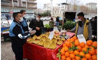 Karaköprü'de pazar yerlerine sıkı denetim