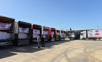 Şanlıurfa'dan Barış Pınarına 28 tır insani yardım