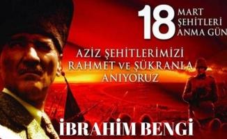 Bengi'den Çanakkale Zaferi Mesajı
