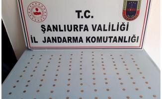 Viranşehir'de 110 altın sikke ele geçirildi