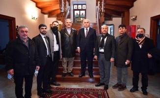 Urfalı Avukat Ahmet Küçük'ü ziyaret ettiler