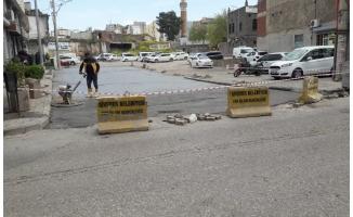 Siverek'te beton yol çalışmaları